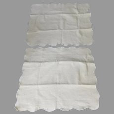 Pair European Cotton Pillow Shams Wellesley Manor Matelasse Off White Portugal