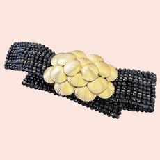 Vintage William Delillo Bead Shell Belt Signed c1970