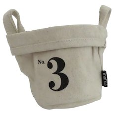 Vintage Maika #3 Canvas Bucket Storage