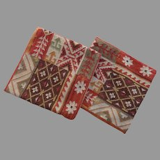 Two Vintage Kilim Cushion Covers Cases