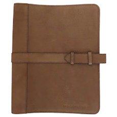 Brunello Cucinelli Leather iPad Case Saddle Brown