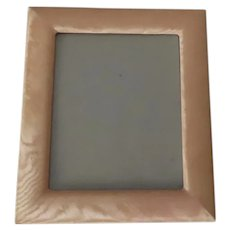 Vintage Large Picture Frame made with a Moire Fabric Easel Back