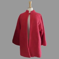 Vintage 1960's 1970's Mohair Cape Coat by Emily Wetherby Retailed by Lena Darner Hagerstown, Maryland