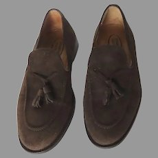 Classic Men's English Style Shoes Loafer Tassel Brown Suede Stradford Shoes Since 1954 Size 42