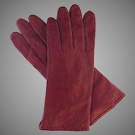 Vintage Grandoe Women's Gloves Red