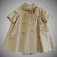 Vintage 1905's Evening Swing Winter Coat Lined Bow