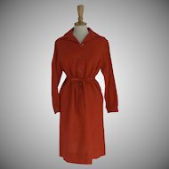 Vintage 70's Wood Shirtwaist Dress by Donald Davies Ireland