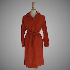 Vintage 70's Wood Shirtwaist Dress by Donald Davies Ireland