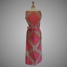 Vintage Tori Richard Honolulu Dress with Matching Belt