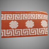 "Vintage 1 1/2"" Wide Trim Embroidered Greek Key 35+ Yards"