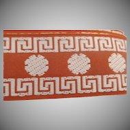 "Vintage 1 1/2"" Wide Trim Embroidered Greek Key 35+ Yards"