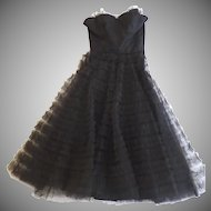 1950's Vintage Fred Perlberg Tulle Strapless Dress