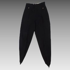Vintage 100% Wool Navy Ski Pants Stirrup 1950's