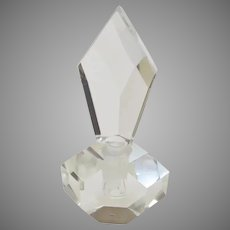 Vintage Cut and Faceted Crystal Bottle & Stopper