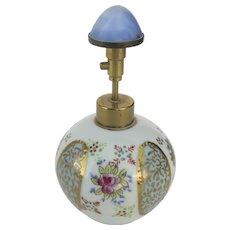 Vintage Hand-Painted Porcelain Irice Perfume Bottle Atomizer