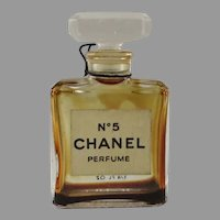 Vintage Small Chanel No. 5 Bottle New York