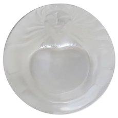 Vintage Lalique Round Lion Motif Dish