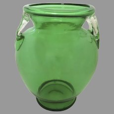 Steuben Pomona Green Art Glass Vase Early 20th Century