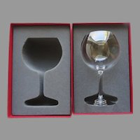 Baccarat Burgundy Wine Tastevin (Pommard) with Box