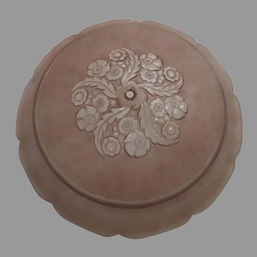 Vintage Glass Ceiling Shade Dusty Pink Floral Swirl Pattern