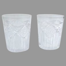 Two Vintage Cut Glass Tumbler Glasses
