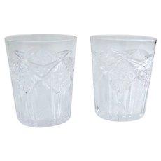 Two Vintage Cut Glass Tumbler Glasses
