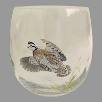 Vintage Ned Smith Painted Tumbler Roly Poly Bar Glass