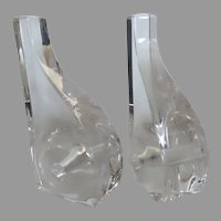 Vintage Mid Century Acrylic Lucite Bookends Ritts Astrolite