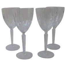 Vintage Set of 4 Large Water Wine Glasses Marquis by Waterford Sparkle