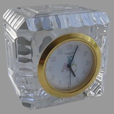Waterford Crystal Baby Child's Quartz Clock ABC Block
