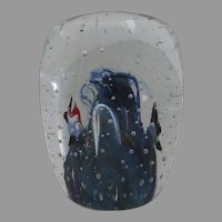 Vintage Bubbles Fish Glass Paperweight