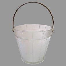 Vintage Ice Bucket Barware in the Shape of  Coopered Bucket Swing Handle