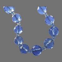 Vintage Blue Murano Necklace 800 Silver Clasp Pauly & Cie C. Compagnia Venezia Murano Orignial Box