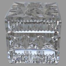 Vintage square Waterford Crystal Paperweight