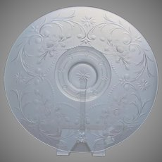 Very Large Cut Glass Footed Bowl C 1900
