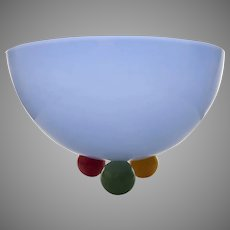 Beautiful Large Glass Bowl by Ibex Studios David Levi
