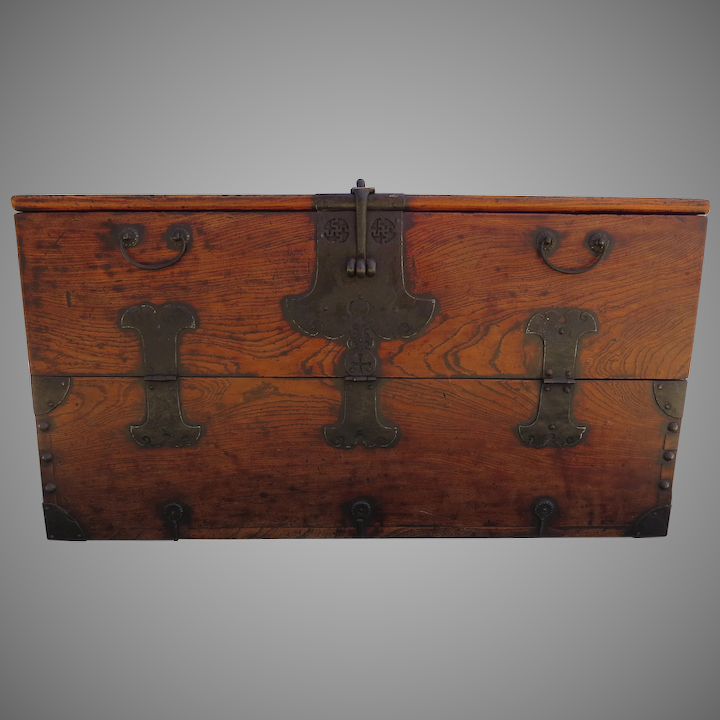 Tremendous 19Th Century Elm Korean Chest With Drop Front Coffee Table Trunk Pdpeps Interior Chair Design Pdpepsorg