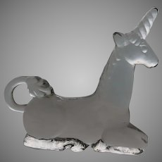Vintage KOSTA BODA Glass Unicorn Zoo Series SWEDEN ANIMAL by Bertil Vallien