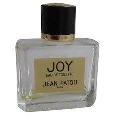 """Elegant JOY eau de toilette by """"Jean Patou Paris in Clear Glass Bottle"""