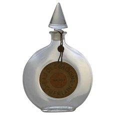 Vintage Large Shalimar Eau de Cologne by Guerlain  Perfume Bottle Made in France