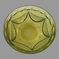 Anglo Irish Cut Crystal Canary Yellow Finger Bowl Early 19th Century