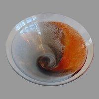 Vintage Large Amazing Swirl Glass Bowl Designed by Kjell Engman for Kosta Boda