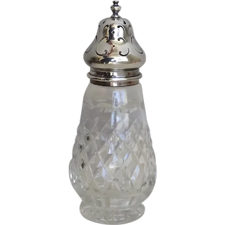 Sterling silver English and Crystal Sugar Caster by Charles S. Green & Co. Birmingham