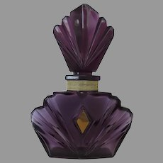 Large Vintage Amethyst Elizabeth Taylor Passion Factice Dummy Perfume Bottle