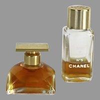 Chanel no. 5 Miniature Bottle Eau de Toilette 50ml bottle 1/3 Full and Vintage Estee Lauder Spellbound Eau de Parfum Splash 50ml Perfume