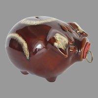 Vintage 1957 Hull Corky Pig Piggy Bank Mirror Glaze Original Cork