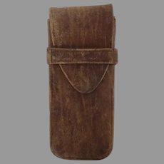 Vintage 1900's Leather Eye Glasses Case Gusset