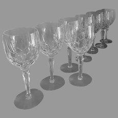 "Wine Glass Lady Anne by Gorham Crystal 6 3/4"""