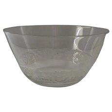 Lalique Crystal Dessert Finger Bowl Phalsbourg Pattern Made in France