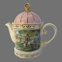 Classic Sadler Collection Staffordshire England 18th Century Sporting Scenes Teapot